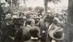 Santa Rosa, década de 1920. Acto en plaza Mitre. Colección Noemí Monmany.